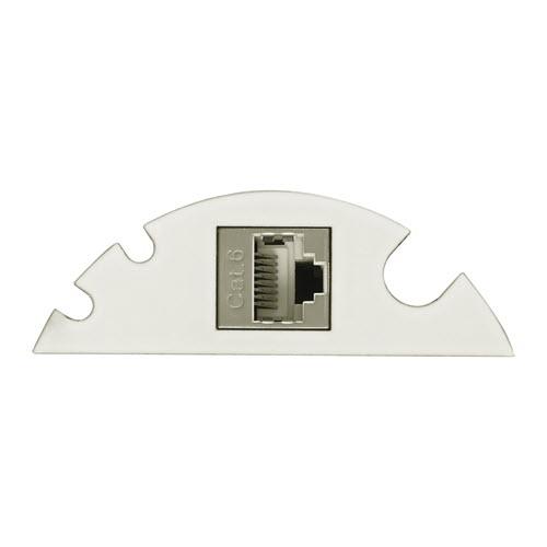 EVOline Circle80 - 3fold cable guide + RJ45 - White - EVOlineStore 500x500
