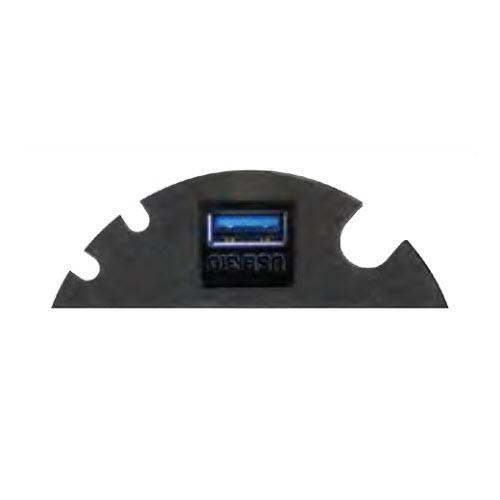 EVOline Circle80 - 3fold cable guide + multimedia module - Black - EVOlineStore