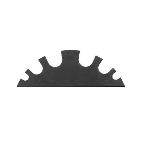 EVOline Circle80 - 6fold cable guide module - Black - EVOlineStore