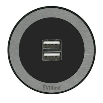 EVOline One - Double USB charger Stainless Steel - EVOlineStore