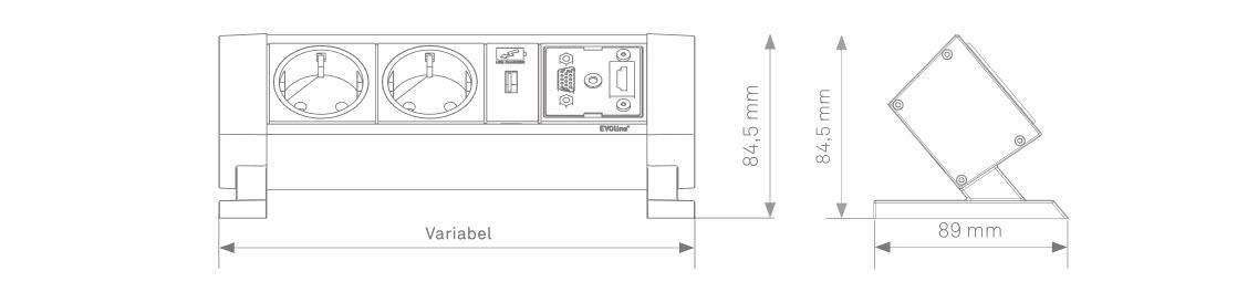 EVOline Dock-Square sizes - EVOlineStore