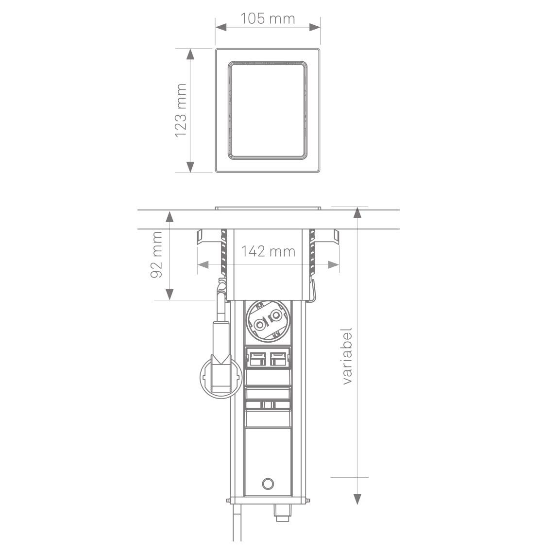 EVOline Port Push sizes - EVOlineStore