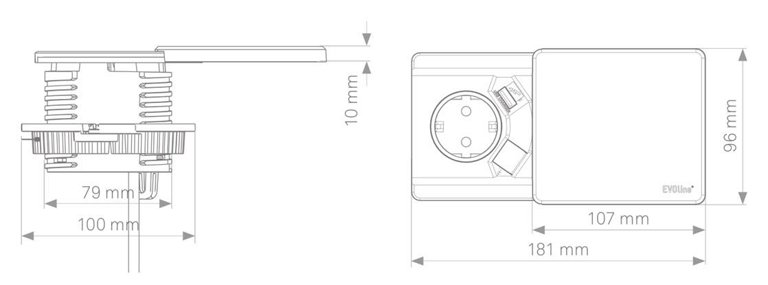 EVOline Square80 sizes - EVOlineStore