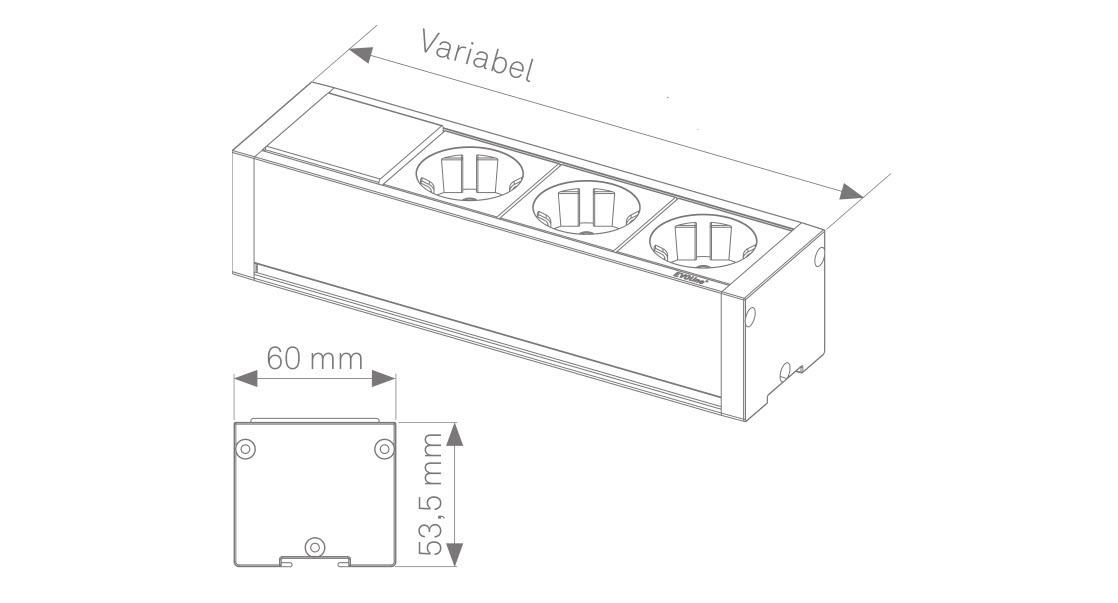 EVOline U-Dock sizes - EVOlineStore