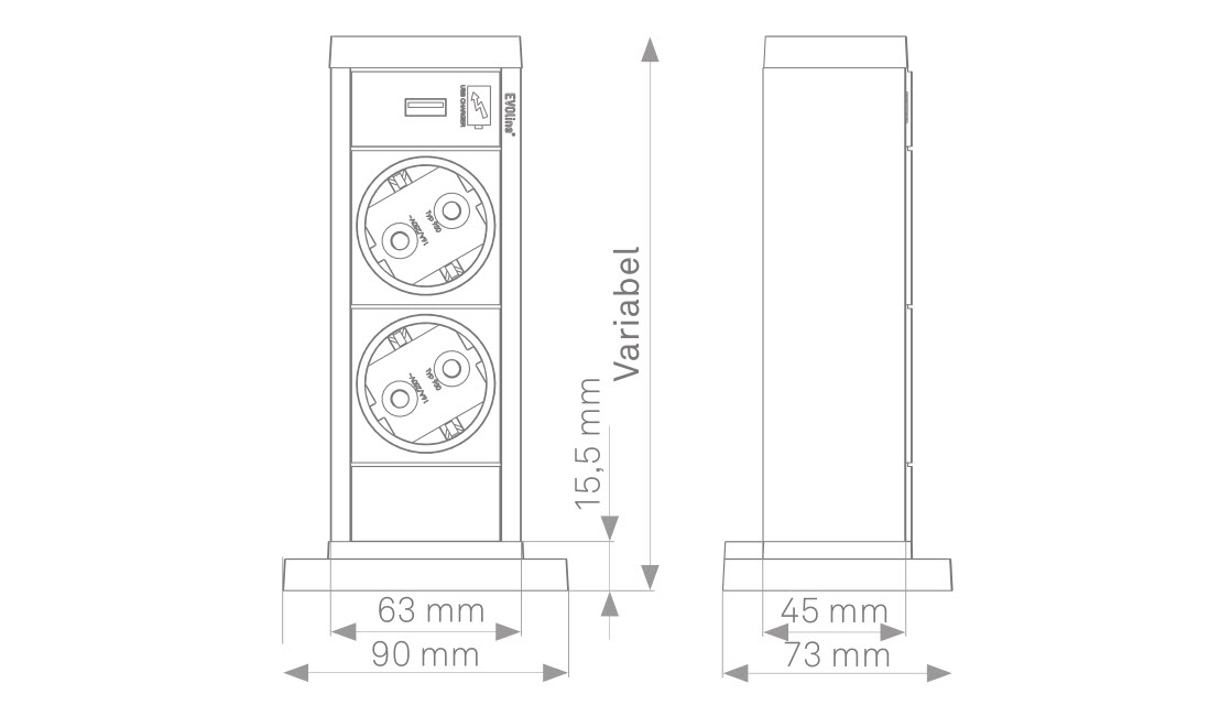 EVOline UP sizes - EVOlineStore