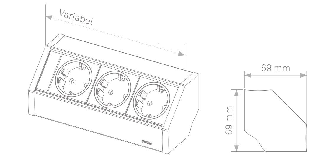 EVOline V-Dock sizes - EVOlineStore