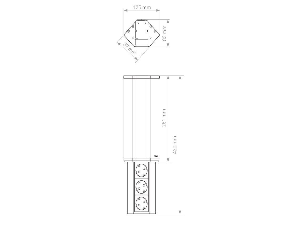 EVOline V-Port sizes - EVOlineStore